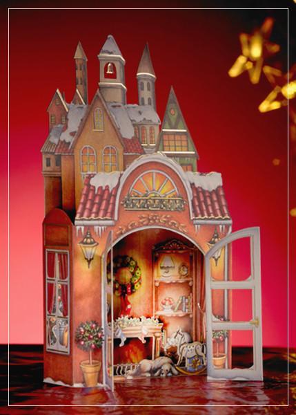 Fireplace - Christmas greeting card