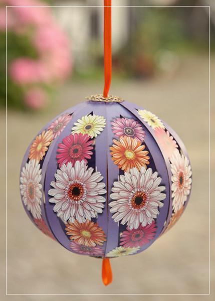 GEerebera purple ball - greeting card