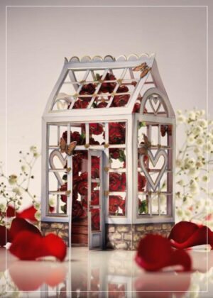 Green house - greeting card