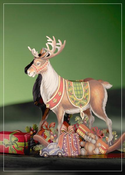 Reindeer - greeting card