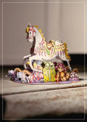 Rocking horse - greeting card