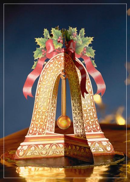 Christmas bell - christmas greeting card